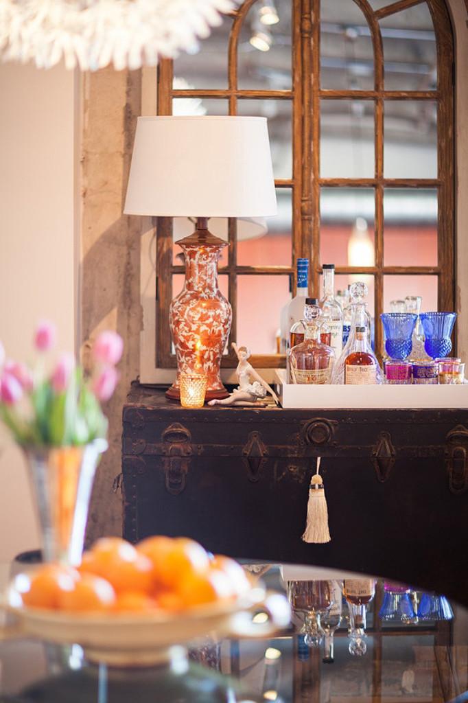 сундук в интерьере кухни