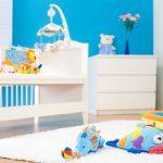 Фото 53: Игровая зона в детской комнате для новрождённых