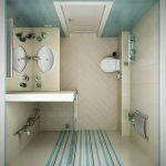 Фото 71: Душевая в маленькой комнате за перегородкой