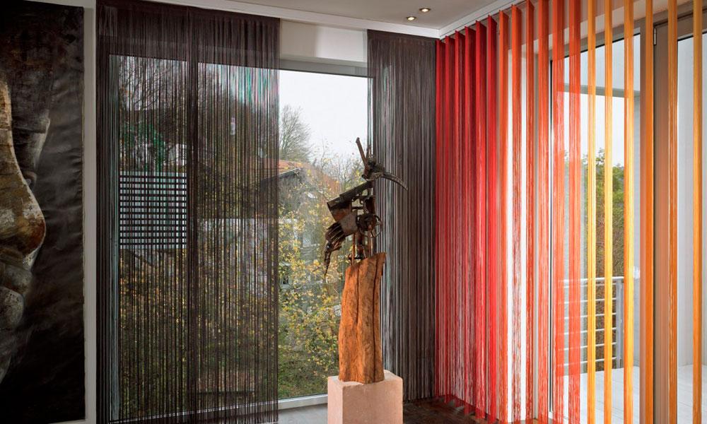 Градиентные шторы - нити