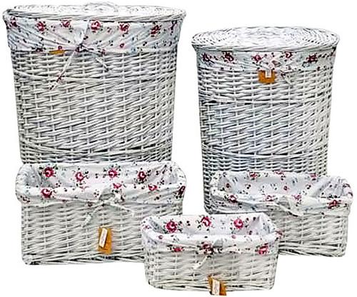 плетеные корзины для ванной прованс