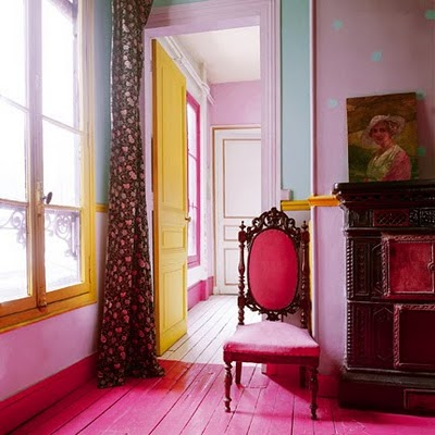 розовый пол