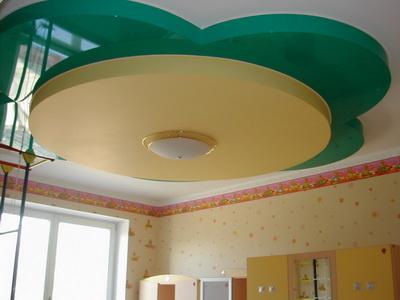 многоуровневые потолки в комнате новорожденного
