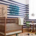 Фото 75: Дизайн комнаты для новорождённого мальчика в морском стиле
