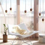Фото 64: Нитяные шторы в интерьере гостиной фото