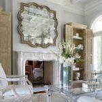 Фото 101: Зеркало в классическом стиле над камином
