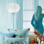 Фото 106: Нитяные шторы в интерьере