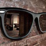 Фото 104: Настенное зеркало в виде очков