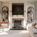 Фото 62: Расположение зеркал по обе стороны от камина