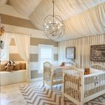 Фото 87: Драпированный потолок в комнате для новорождённого
