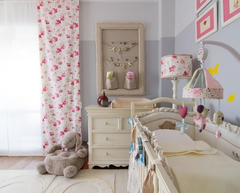 Дизайн комнаты для новорождённой девочки