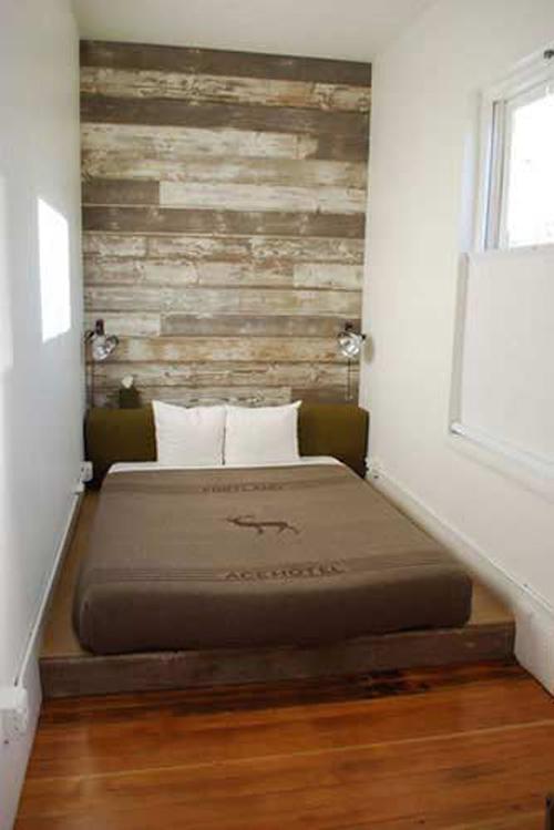Мебель в узкой спальне