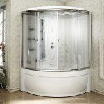 Фото 62: полукруглый душевой бокс с гидромассажной ванной