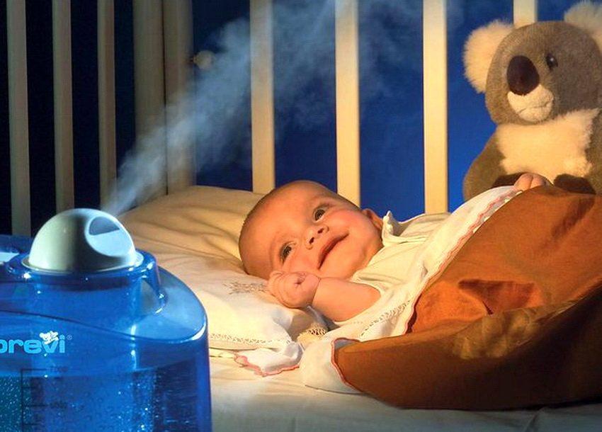 Увлажнитель воздуха в комнате новрождённого