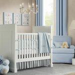Фото 71: Комната для новорожденного в бежевых и голубых тонах