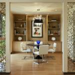 Фото 119: Нитяные шторы с бусинами в проемах из гипсокартона