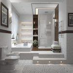 Фото 41: Ванна и душевая на подиуме