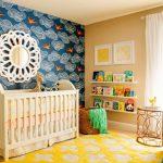 Фото 49: Зонирование комнаты для новорождённого обоями