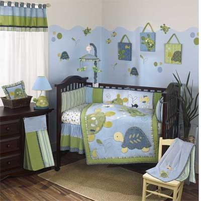 Аквариумная тематика в комнате для новорожденного