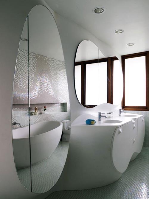 Дизайн-проект совмещенного санузла большого размера