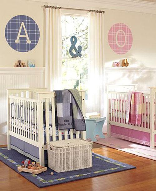 Комната для новорожденных двойняшек