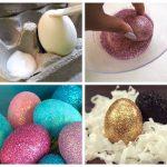 Фото 97: Украшение яиц блестками