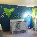 Фото 162: Космическкий дизайн детской для новорожденного