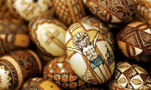 История создания пасхальных яйц из бисера