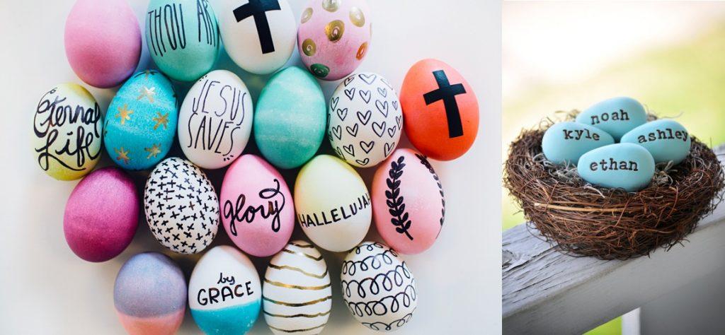 Декор яиц именами