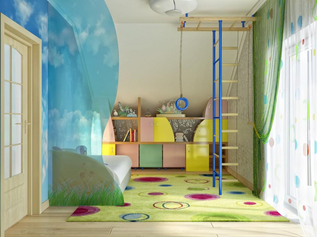 Спортивный комплекс в детской комнате