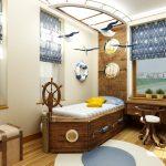 Фото 93: Пол из доски в детской комнате для мальчика