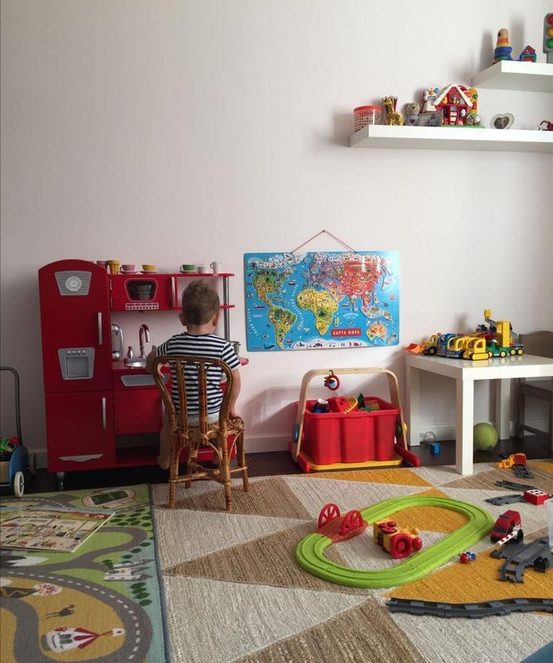 Игровая зона в детской для мальчика