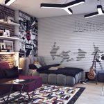 Фото 40: Дизайн комнаты в стиле лофт для мальчика