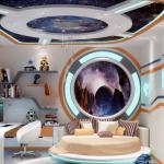 Фото 164: Дизайн детской в виде интерьера космического корабля