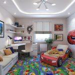 Фото 94: Ковролин в детской комнате для мальчика