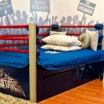 Фото 109: Кровать - ринг в комнате для мальчика