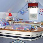 Фото 152: Кровати - лодки в детской