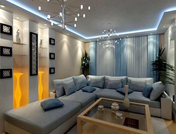 Светодиодная подсветка в современном стиле