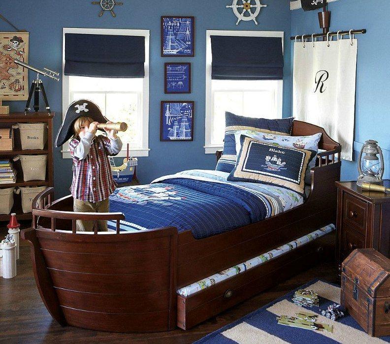 Комната в детской в морском стиле