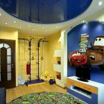 Фото 84: Натяжной потолок в детской для мальчика