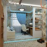 Фото 53: Зонирование детской комнаты подиумом и гипоскартонной перегородкой