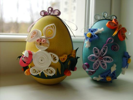 Украшение пасхального яйца в