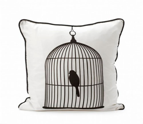 Декоративная клетка для птиц в интерьере