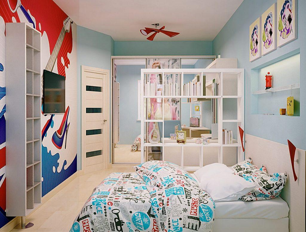 Оформление детской комнаты в стиле поп-арт
