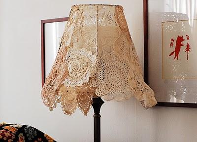 Абажур лампы в винтажном стиле