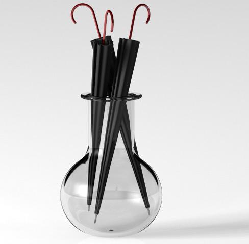 Подставка под зонты из стекла