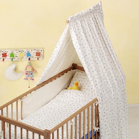 Балдахин на детскую кроватку из ситца