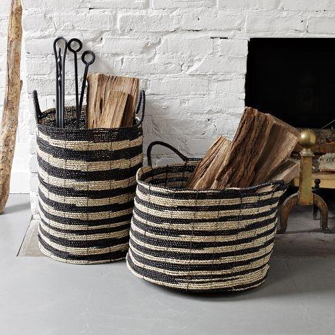 Вязаные сумки для хранения дров