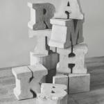 Фото 12: Объемные буквы из гипса