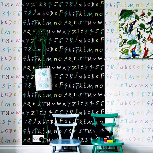 Надписи на стенах в интерьере